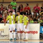 Celebración del gol de Joao, el primero para el Hospital de Llevant (Copiar)