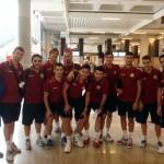 Expedición del Palma Futsal en el Aeropuerto de Son Sant Joan 1 (Copiar)