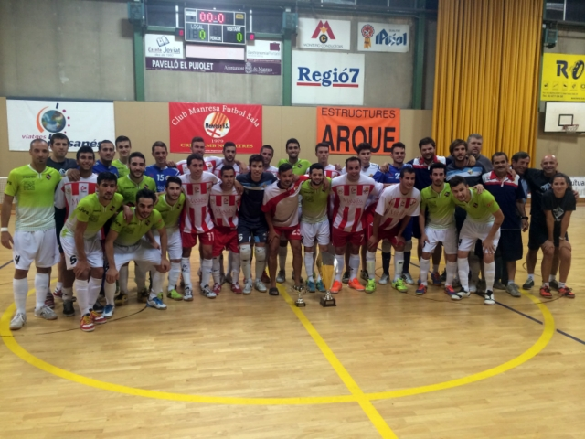 Palma Futsal y Manresa posan tras el partido que ganaron los mallorquines (Copiar)