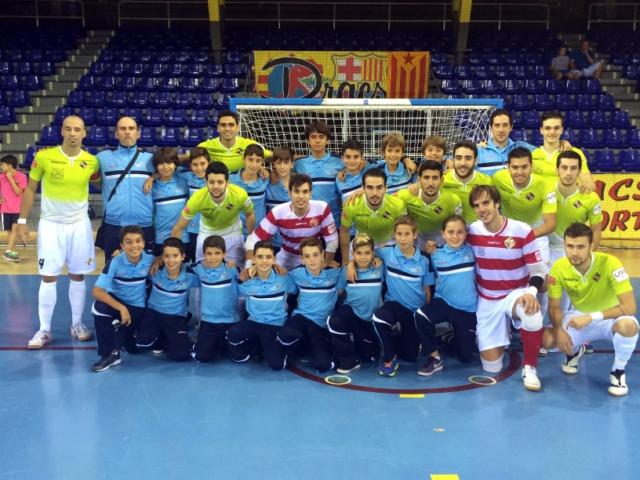 El equipo alevín de Viva Sport que el año pasado ganó la AIR Europa Cup y que viajó para el partido (Copiar)
