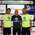Lemine, Juanito y Vadillo este jueves en Son Moix (Copiar)