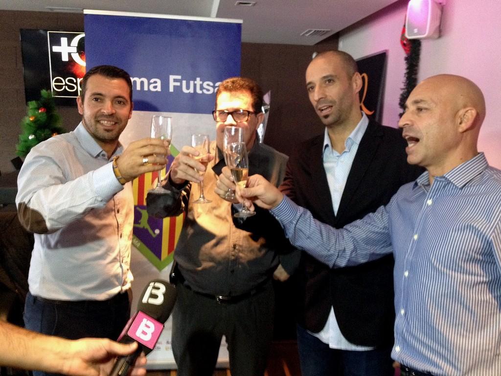 Tirado, Miquel Jaume, Vadillo y Juanito técnico del Palma Futsal 1 (Copiar)