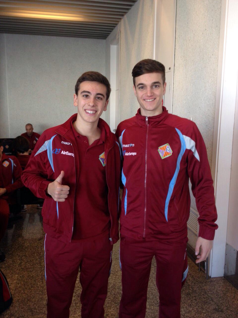 Luis de Juan y Pope, dos juveniles con el primer equipo