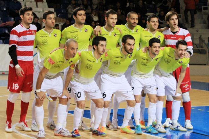 Formación del Palma Futsal ante el DLink Zaragoza (Copiar)