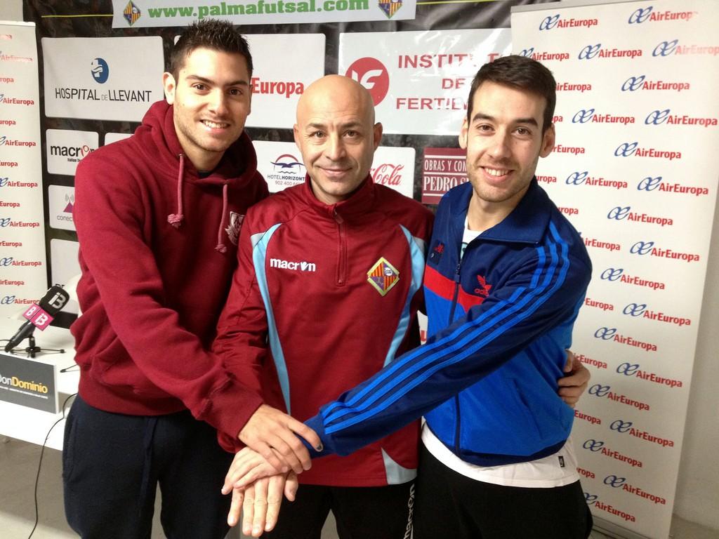 Taffy, Juanito y Sergio, tras la rueda de prensa previa al partido 1 (Copiar)