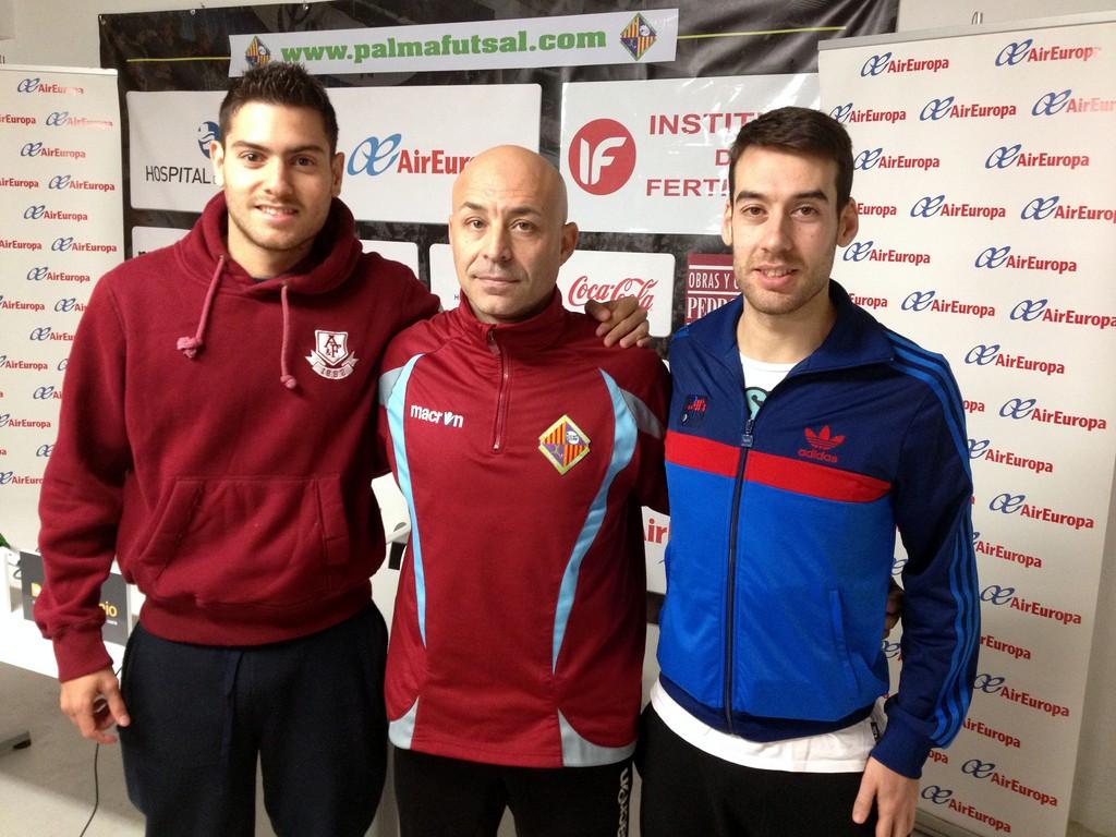Taffy, Juanito y Sergio, tras la rueda de prensa previa al partido 2 (Copiar)