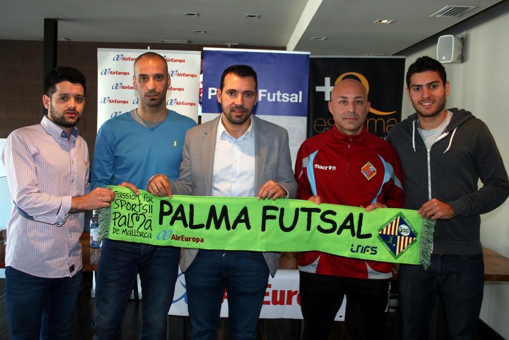 Burrito, Vadillo, Tirado, Juanito y Taffy en la rueda de prensa previa a la Copa de España 1 (Copiar)