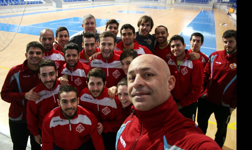 Selfie del Palma Futsal en el entrenamiento de este jueves 1 (Copiar)
