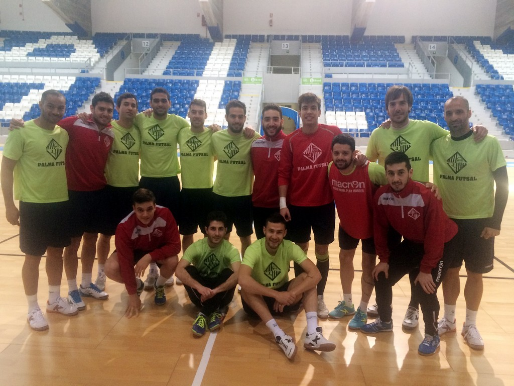El Palma Futsal este viernes en el último entreno en Son Moix 1 (Copiar)