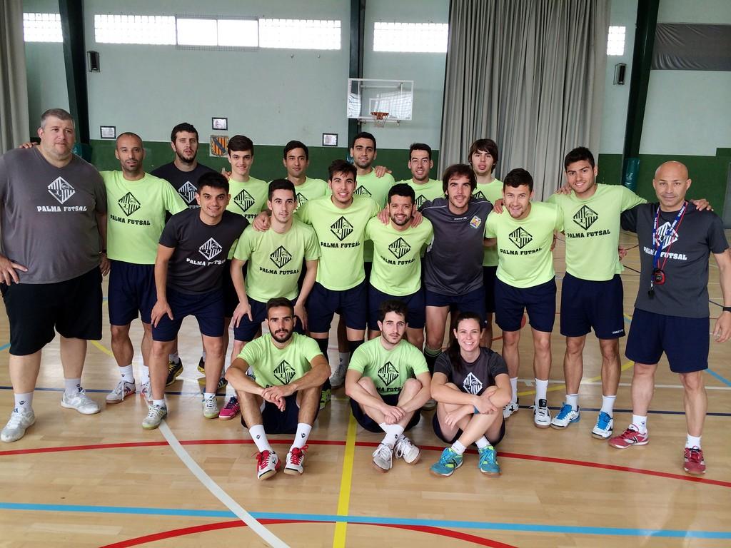 El Palma Futsal posa en el pabellón del Príncipes de España (Copiar)