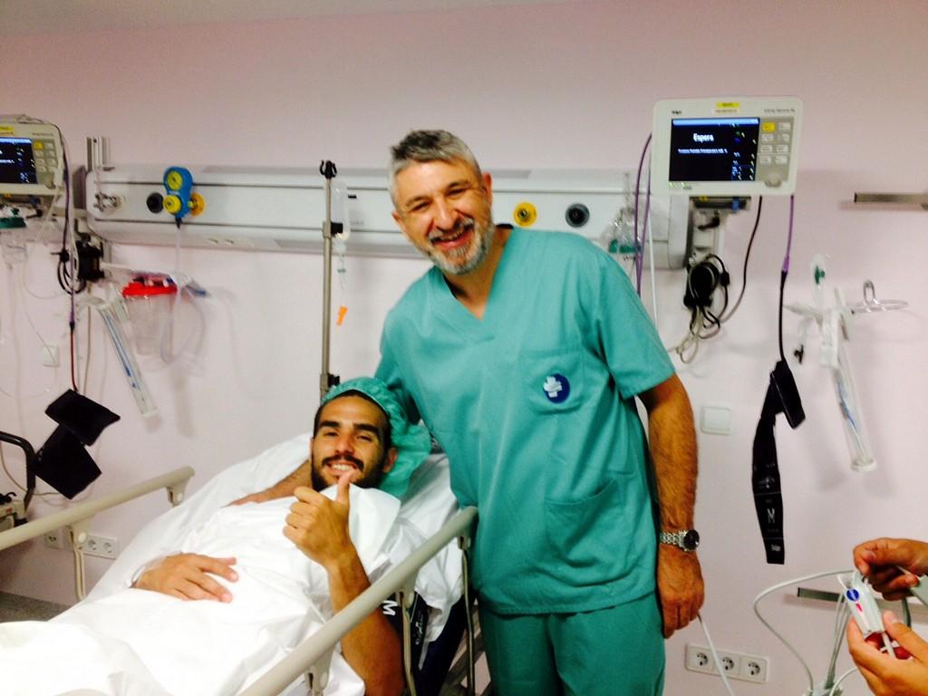 Chicho, operado con éxito por el médico del Palma Futsal (Copiar)