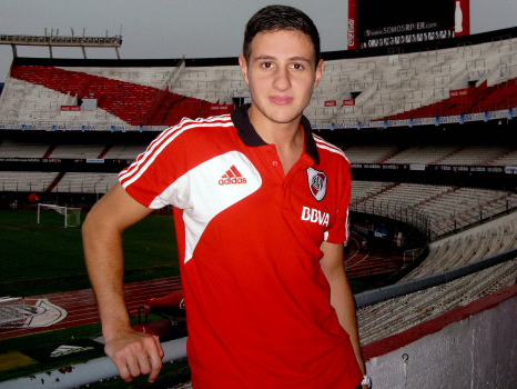 Nico Sarmiento, en el estadio de River Plate - Foto River Plate
