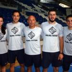 Foto del cuerpo técnico del Palma Futsal (Marga, Óscar Tesías, Juanito, Joan Llompart y Martín) (Copiar)