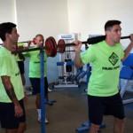Sergio, Joao, Vadillo y Pizarro, en el gimnasio 1 (Copiar)