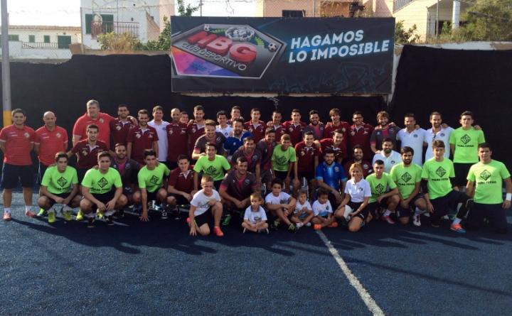 El Palma Futsal en un acto benéfico de la Fundación RANA (Copiar)
