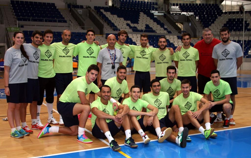 El Palma Futsal posa en Son Moix 2 (Copiar)