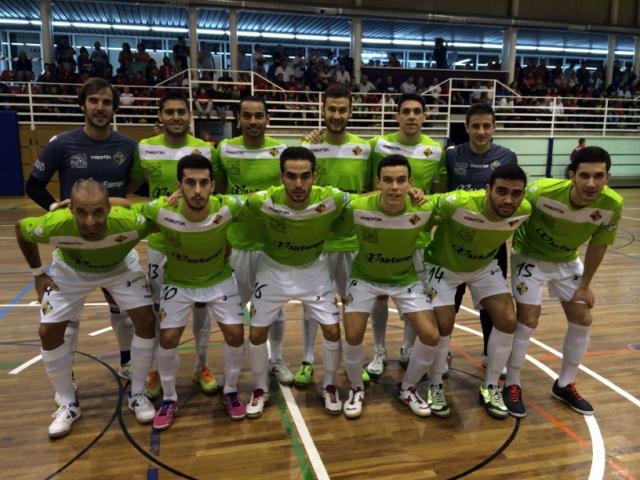 Formación del Palma Futsal en su estreno en la Copa del rey en Pallejà y estrenando la primera equipación (Copiar)