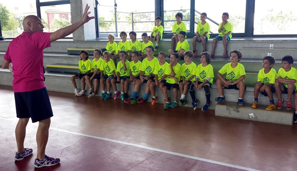 Juanito, en el campus del Palma Futsal el pasado verano en Palma (Copiar)