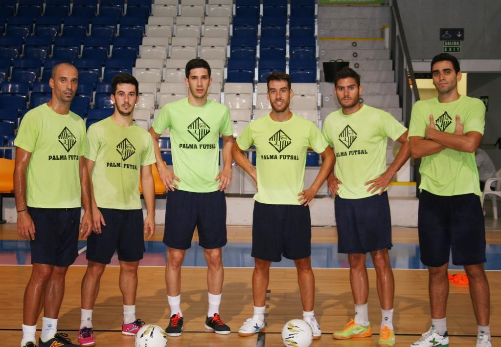 Vadillo, Joselito, Trípodi, Sergio, Taffy y Tomaz, este martes, en Son Moix 1 (Copiar)