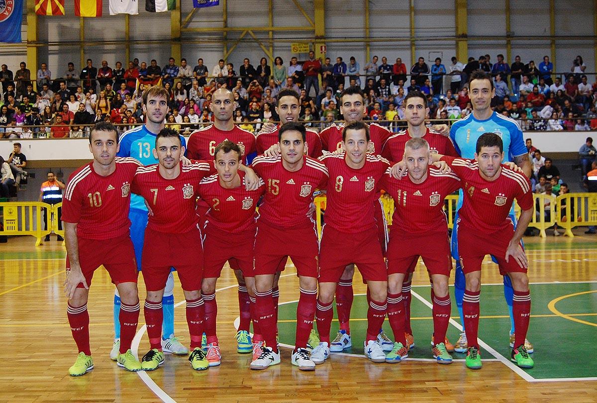 Barrón forma con el resto de la selección española
