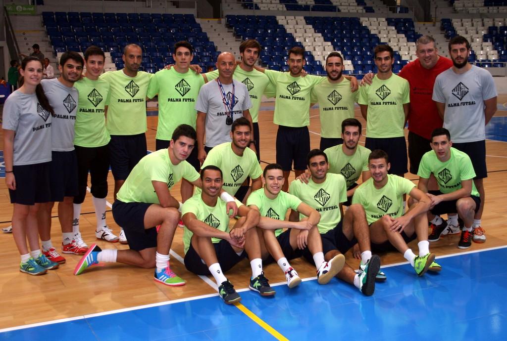 El Palma Futsal posa en Son Moix 1 (Copiar)