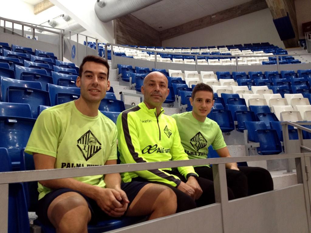 Sergio, Juanito y Nico Sarmiento, en Son Moix 1 (Copiar)