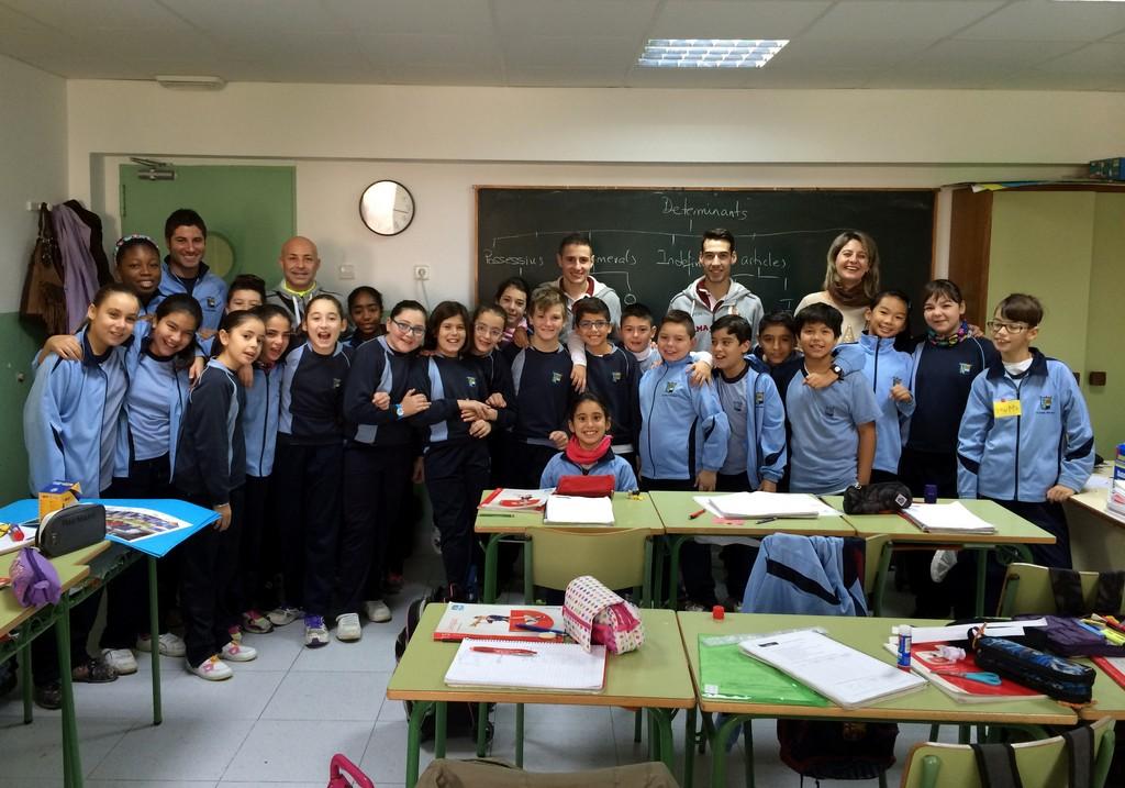 Con los alumnos del colegio CP Balmes de Palma 2 (Copiar)