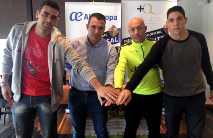 Tomaz, José Tirado, Juanito y Pizarro en la previa del partido ante ElPozo 2 (Copiar)