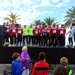 El Palma Futsal, en el podio como agradecimiento a su asistencia (Copiar)