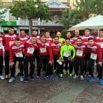 El Palma Futsal, minutos antes de comenzar la carrera benéfica (Copiar)