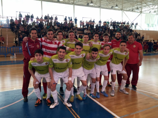 Formación del Palma Futsal juvenil de DH ante el F.C. Barcelona 2 (Copiar)