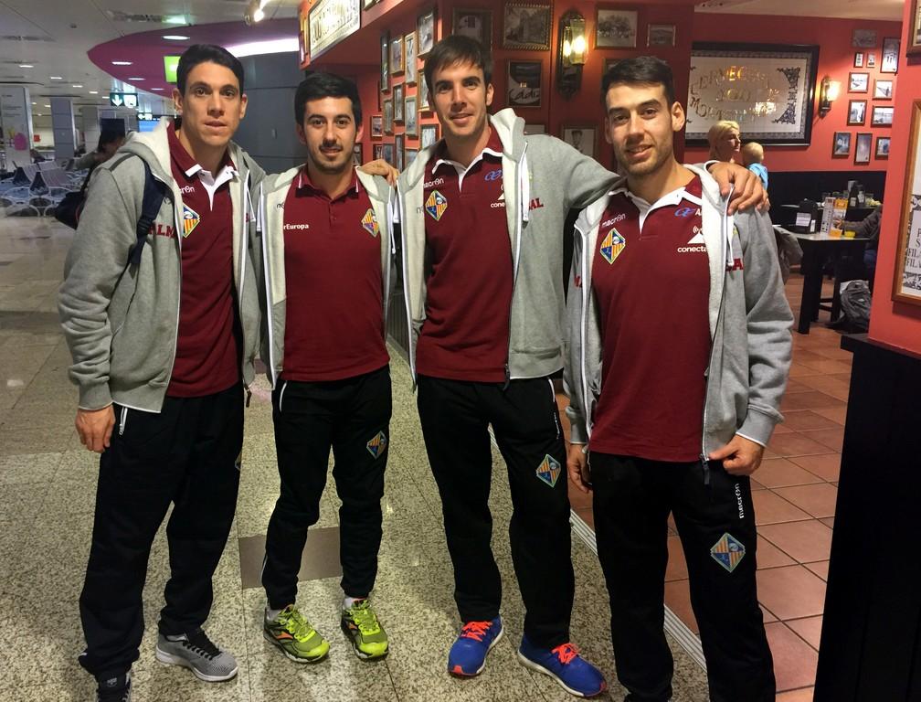 Pizarro, Joselito, Barrón y Sergio en Barajas (Copiar)