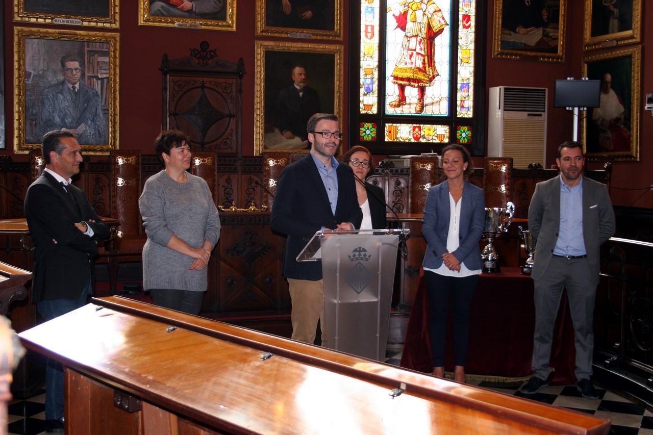 José Hila, alcalde de Palma, durante la presentación (Copy)