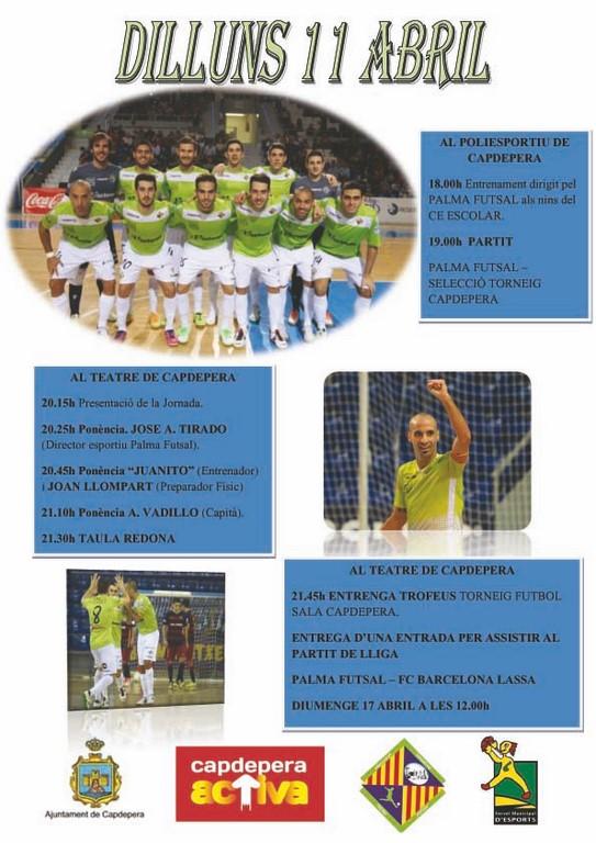 Cartell jornada del Palma Futsal a Capdepera copiar (Copy)