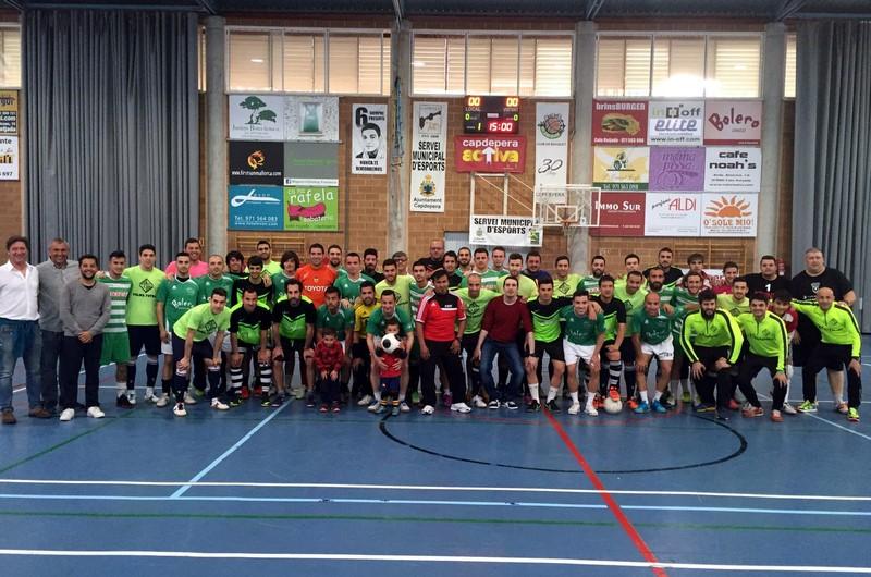 El Palma Futsal posa con los equipos con los que ha jugado un amistoso 1 (Copiar)