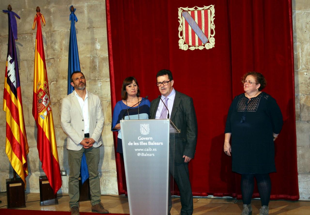 Miquel Jaume en su intervención en la recepción del Govern Balear (Copy)