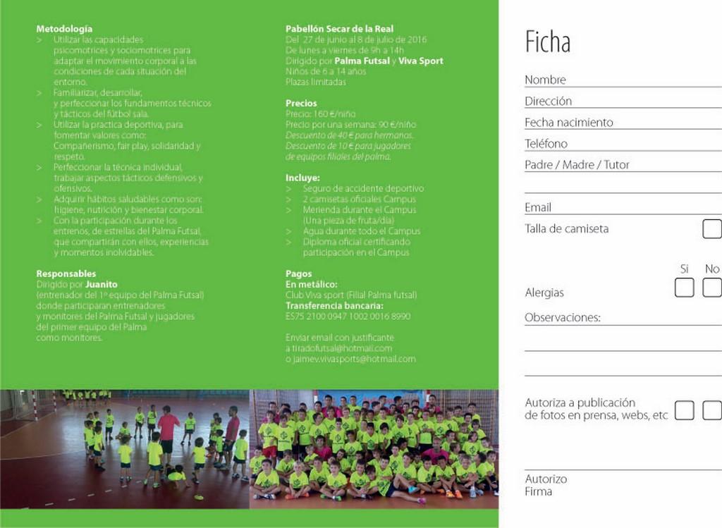 Tríptico del campus del Palma Futsal - Cara 2 (Copiar)