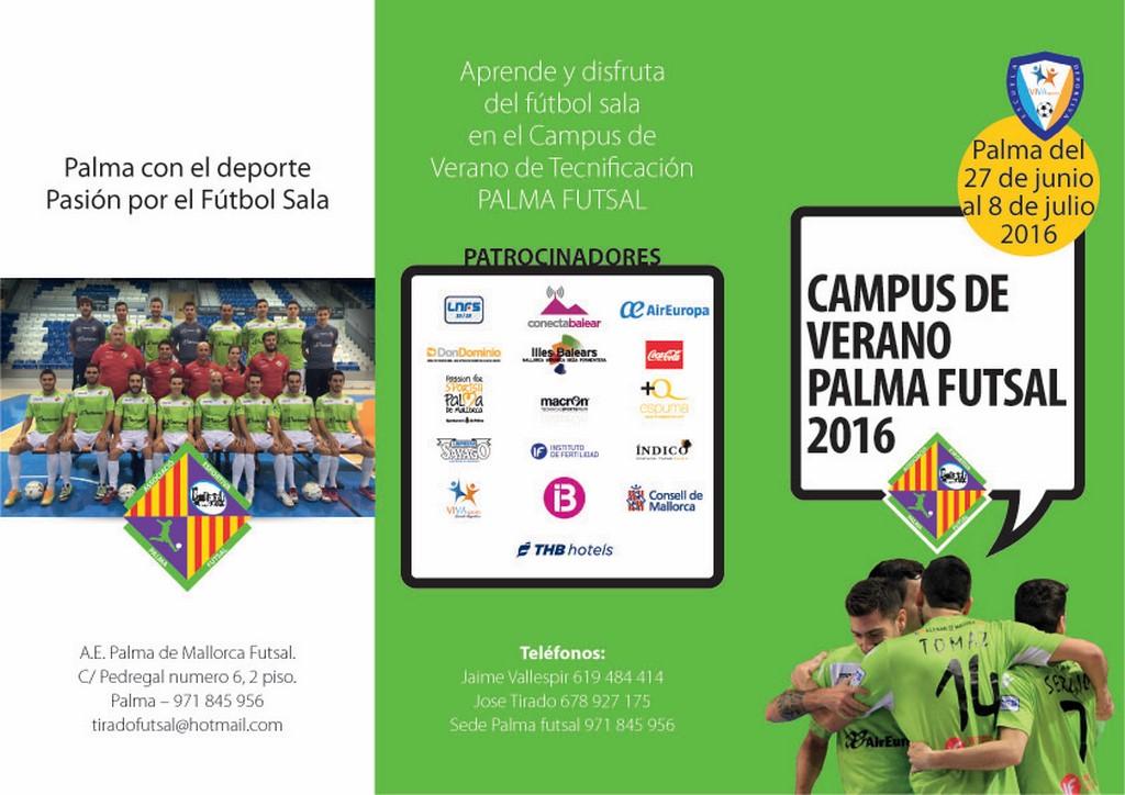 Tríptico del campus del Palma Futsal - Cara 1 (Copiar)