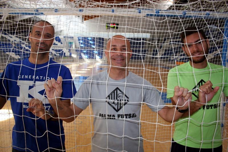 Vadillo, Juanito y Taffy, este martes, en Son Moix 1 (Copiar)
