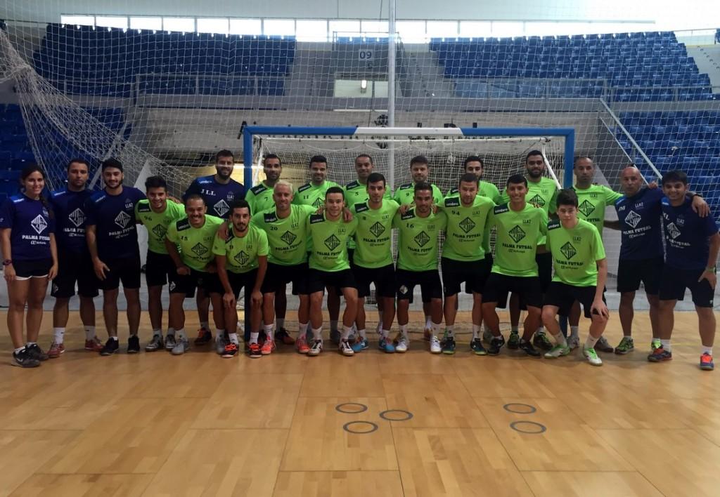 El Palma Futsal, este lunes, en Son Moix 1 (Copy)