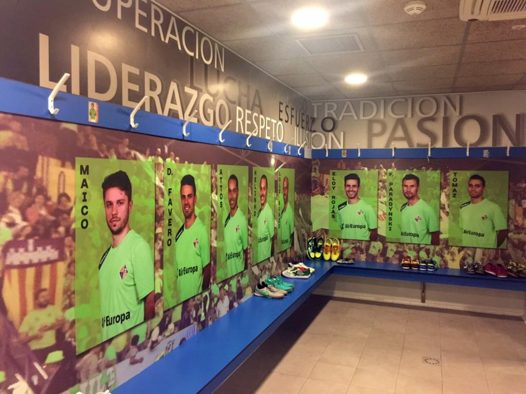Imagen del cambio de imagen del vestuario del Palma Futsal [1280x768]