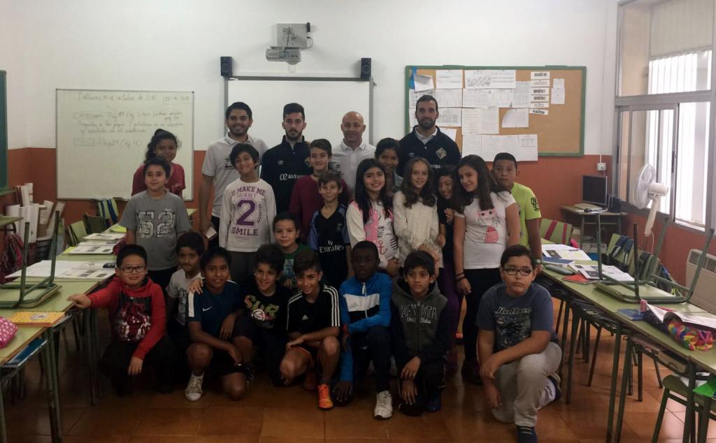 Juanito, Joselito y Carlitos han visitado el colegio Santa Isabel de Palma