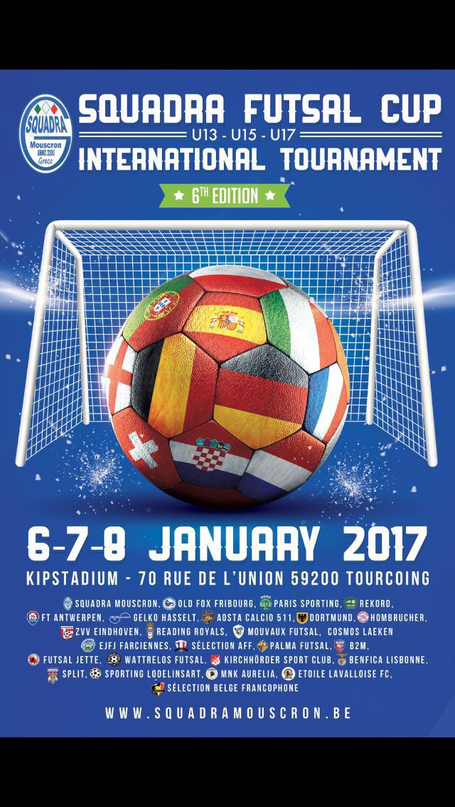 Cartel del cartel del torneo cadete en Bélgica