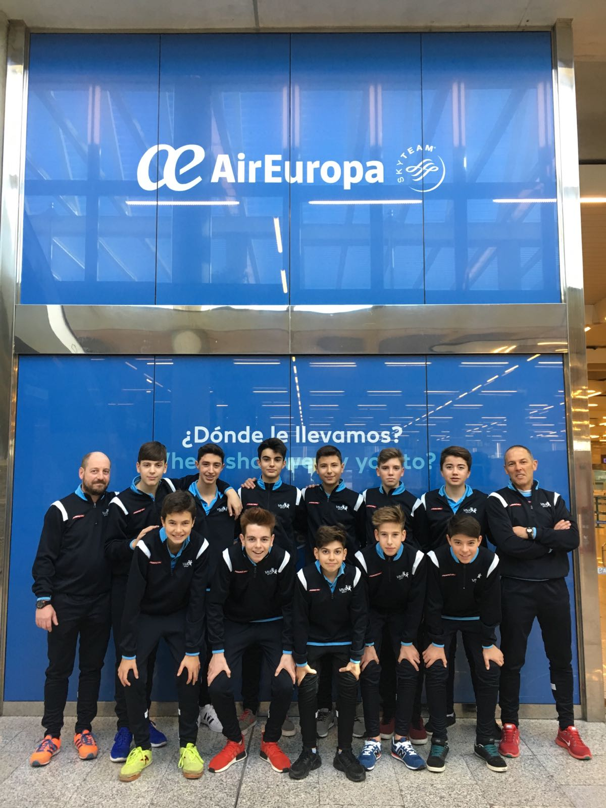 El equipo cadete que ha viajado a Bélgica