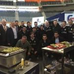 La plantilla del Palma Futsal en la feria Horeca (1)