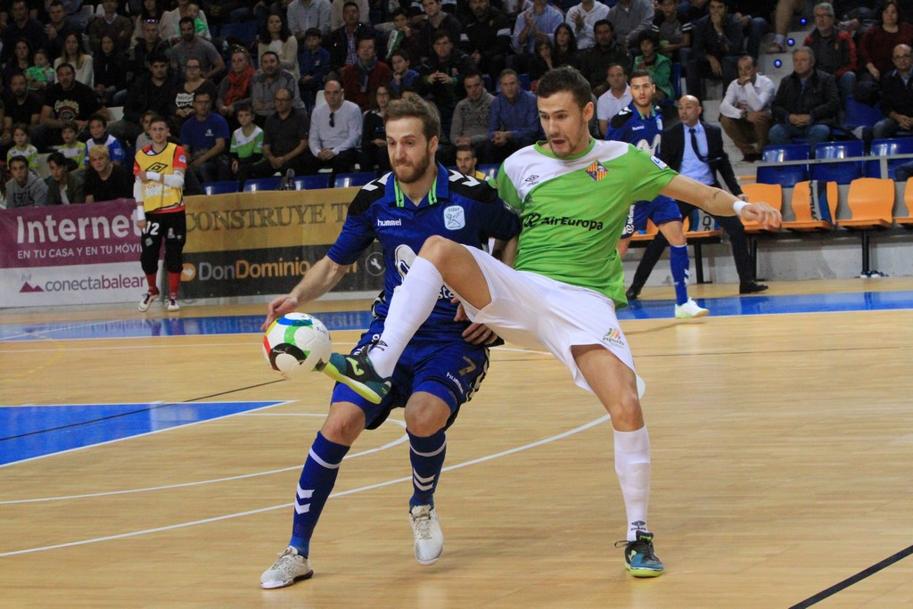 Paradynski en el partido ante el Movistar Inter