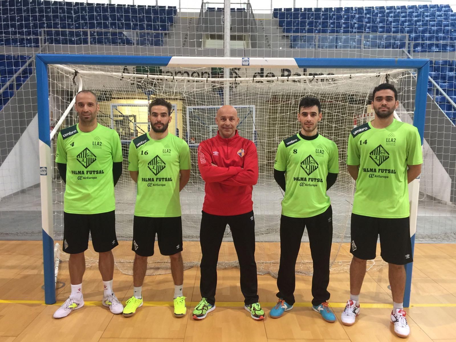 Vadillo, Chicho, Juanito, Eloy Rojas y Tomaz, en Son Moix (1)