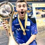 David Pazos, campeón de Europa con el Movistar Inter