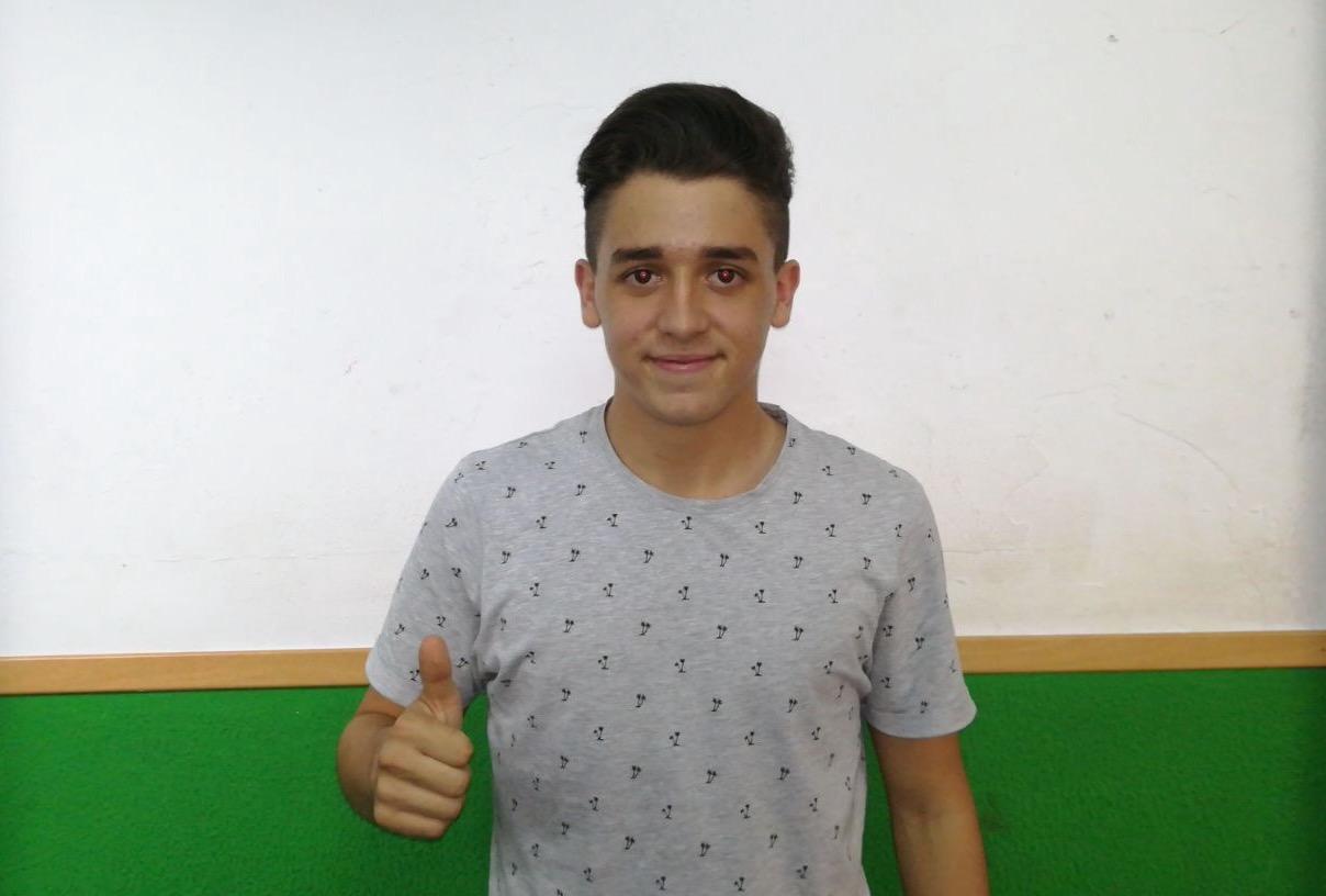 Pedro Palou levanta el pulgar tras conocer su convocatoria