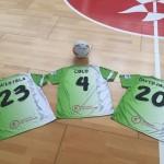 Camisetas de Quintela, Lolo y David Pazos, esta mañana, en Son Moix 2